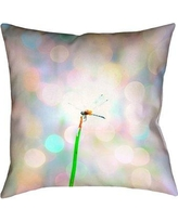 "Ivy Bronx Gemmill Dragonfly and Lights Double Sided Throw Pillow IVBX7927 Size: 18"" x 18"", Type: Throw Pillow, Material: Suede"