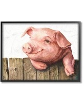 Pink 10 x 15 Design by George Dyachenko Wall Plaque Stupell Industries Baby Piglets Smiling Adorable Farm Animals