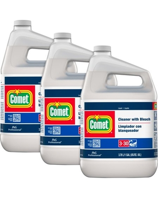 Comet Cleaner with Bleach, Liquid, One Gallon Bottle, 3/Carton -PGC02291CT