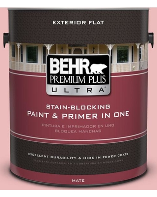 BEHR ULTRA 1 gal. #150C-3 Arizona Sunrise Flat Exterior Paint and Primer in One