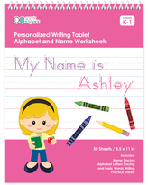 Spark & Spark Art Activity Books - Blonde Girl Personalized Writing Practice Tablet