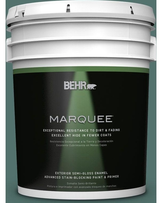 BEHR MARQUEE 5 gal. Home Decorators Collection #HDC-WR16-04 Noble Fir Semi-Gloss Enamel Exterior Paint & Primer