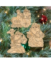 The Holiday Aisle 3 Piece Do It Yourself Christmas Arrival Ornament Set BI079662