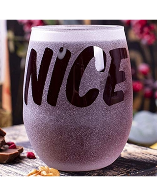 Nice - Stemless Wine Glass - Gift For Her - Gift For Girl - Gift Idea for Women - Bridesmaid Wedding Party Favor