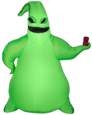 5Ft Airblown® Inflatable Halloween Disney® Oogie Boogie By Gemmy Industries | Michaels®