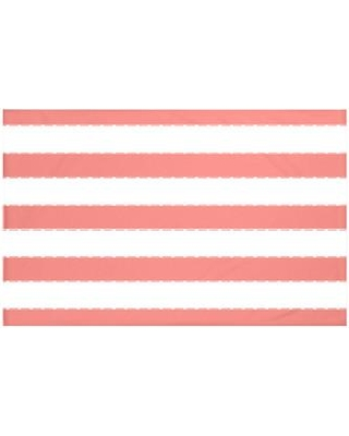 """Breakwater Bay North Bay Stripes Print Fleece Throw BRWT6004 Size: 60"""" L x 50"""" W Color: Seed (Coral)"""