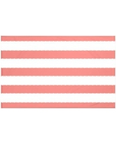 "Breakwater Bay North Bay Stripes Print Throw Blanket BRWT6004 Size: 60"" L x 50"" W, Color: Seed (Coral)"