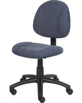 Deluxe Posture Chair Blue - Boss Office Products