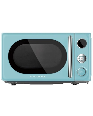 Galanz 0.7 Cu. ft. Retro Countertop Microwave Oven, 700 Watts, Blue
