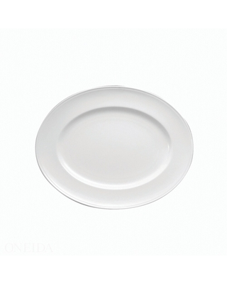 """Sant' Andrea Othello Bone China Oval Platters 15"""" (Set of 6) by Oneida (White)"""