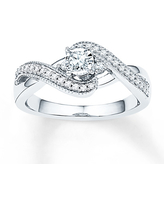 Jared The Galleria Of Jewelry Diamond Promise Ring 1/4 ct tw Round-cut 10K White Gold