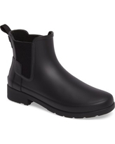 Women's Hunter Refined Chelsea Boot, Size 8 M - Black