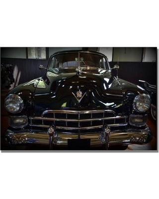 Trademark Fine Art '1948 Cadillac Front' by Michelle Calkins Photographic Print on Canvas MC0164-C Size: 16'' H x 24'' W x 2'' D