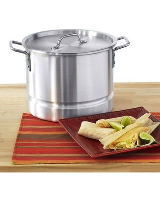 IMUSA Mexicana 12-qt.Tamale Stock Pot with Lid IMUSA