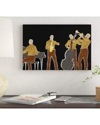 "Winston Porter 'Jazz Group 1 Music African American' Graphic Art Print on Canvas BF219580 Size: 12"" H x 18"" W x 1.5"" D"