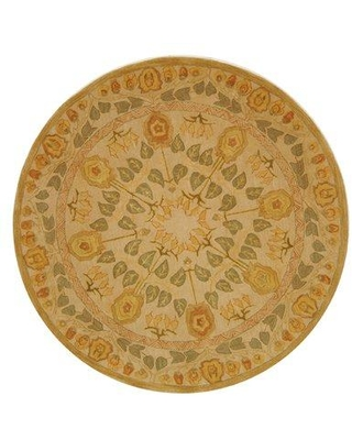 Charlton Home Tingley Hand-Tufted Wool Gold Area Rug AN542A Rug Size: Round 6'