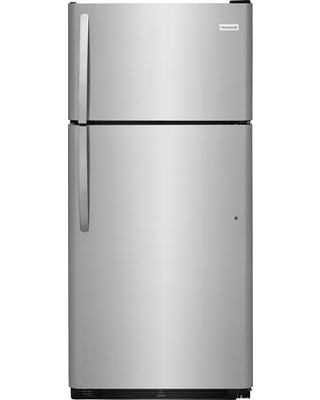 """FFTR1821TS 30"""" Top Freezer Refrigerator with 18 cu. ft. Total Capacity 2 Full Width Glass SpaceWise Refrigerator Shelves 1 Full Width Wire Freezer"""