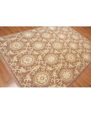 Bloomsbury Market One-of-a-Kind Pruitt Hand-Knotted 6' x 9' Wool Brown Area Rug BI081234