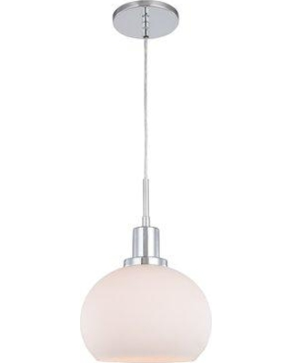 "Breakwater Bay Glassman 1-Light Single Dome Pendant Finish: Bronze, Shade, Fabric in Opal, Size Small ( 7"" - 11"" wide) 
