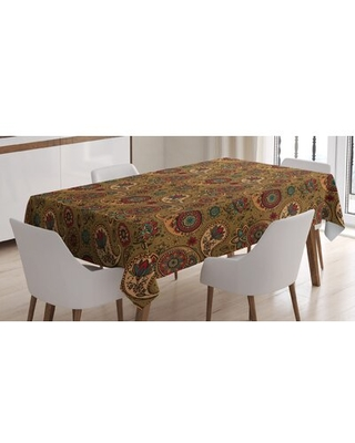 """Paisley Tablecloth East Urban Home Size: 84"""" x 60"""""""