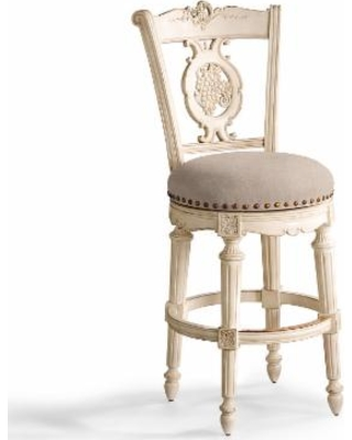 Cool Frontgate Provencal Grapes Swivel Bar Height Bar Stool 30H Seat Camel Leather Antique White Frontgate From Frontgate Bhg Com Shop Pdpeps Interior Chair Design Pdpepsorg