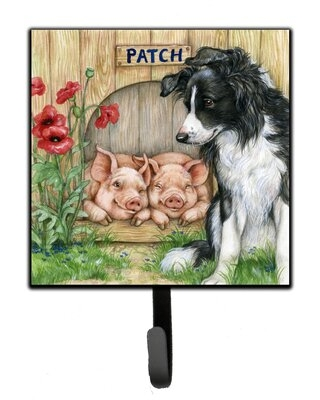 Tosun Patch The Border Collie and Piglet Friends Wall Key Organizer with Key Hooks