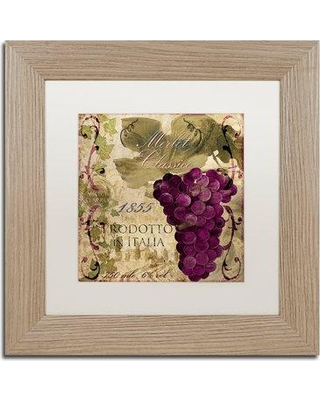 """Trademark Fine Art 'Vino Italiano I' by Color Bakery Framed Vintage Advertisement ALI4163-T1 Size: 11"""" H x 11"""" W x 0.5"""" D Mat Color: White"""