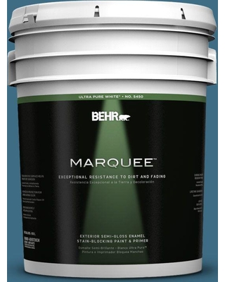 BEHR MARQUEE 5 gal. #560D-6 Seven Seas Semi-Gloss Enamel Exterior Paint and Primer in One