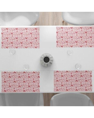 """East Urban Home 18.5"""" Placemat, Polyester in Pink, Size 12""""H X 18""""W 