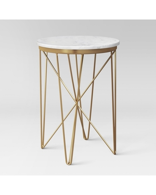 Marble Top Round Table Gold - Project 62