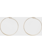 Large Flat Hoop Earrings - A New Day Gold