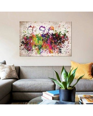 "East Urban Home 'U2' Graphic Art Print on Canvas ERBR0322 Size: 18"" H x 26"" W x 1.5"" D"