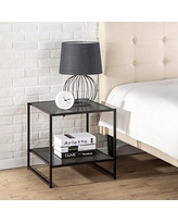 Zinus Modern Studio Collection 20 Inch Square Side/End Table/Night Stand/Coffee Table, Espresso