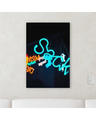 "East Urban Home 'Neon (225)' Textual Art on Canvas BI106480 Size: 30"" H x 20"" W x 2"" D"
