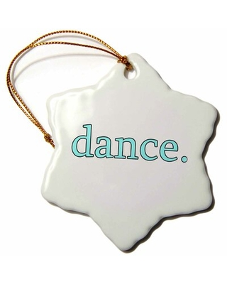 Dance Snowflake Holiday Shaped Ornament