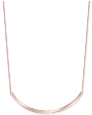 """Charter Club Curved Bar Collar Necklace, 17"""" + 2"""" extender, Created for Macy's"""