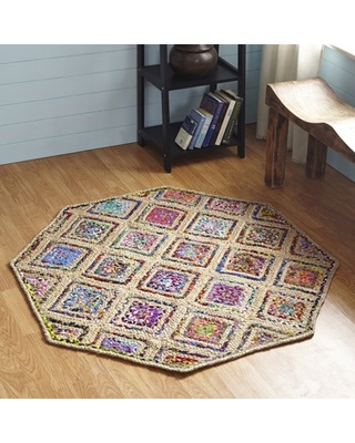 Better Trends Diamond Collection Indoor Rug 5' Octagon Natural
