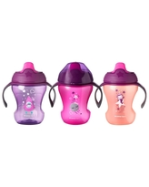Tommee Tippee Infant Trainer Sippee Cup Girl - 3pk/24oz Total 7+ Months - Pink - 8oz