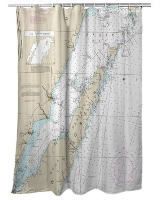 Door County, WI Single Shower Curtain East Urban Home