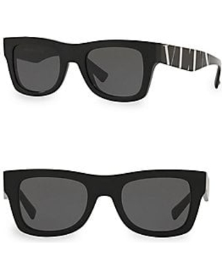 5f06795ccab52 Here s a Great Deal on Valentino Women s VA4045 Solid Black 50MM ...