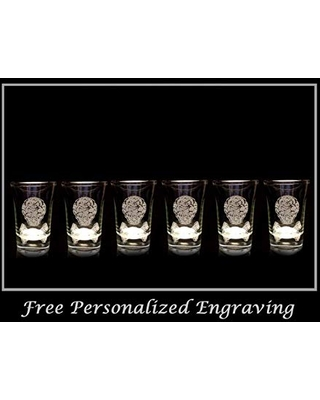 Celtic Pirate Shot Glass Set of 6 - Free Personalized Engraving