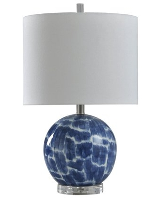Blue and White Ceramic Table Lamp - Blue And White - Brussels White