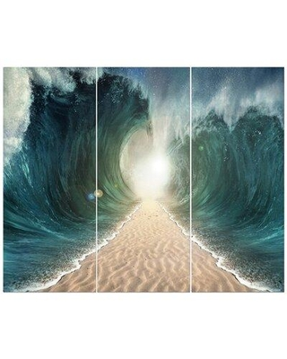 East Urban Home 'Parted Seas' Photographic Print Multi-Piece Image on Wrapped Canvas FCIV5760