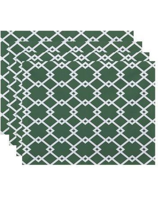 """e by design Link Lock Geometric 18"""" Placemat PT4GN106 Color: Green"""
