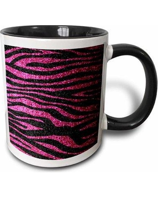 East Urban Home Zebra Faux Bling Photo Not Actual Glitter Fancy Diva Girly Sparkly Sparkles Coffee Mug W000450092