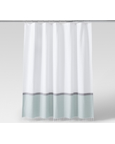Woven Shower Curtain Green/White - Project 62