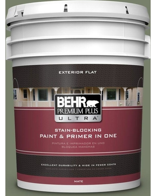 BEHR ULTRA 5 gal. #430F-5 Bahia Grass Flat Exterior Paint and Primer in One