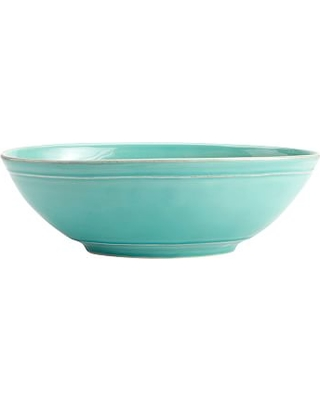 Cambria Stoneware Oval Serving Bowl - Turquoise