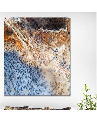 """East Urban Home Stone 'Moss Agate Spotted' Graphic Art Print on Wrapped Canvas ETUC0074 Size: 40"""" H x 30"""" W x 1.5"""" D"""