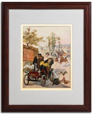 """Trademark Art 'Circus Star Kidnapped' Framed Vintage Advertisement BL01348 Size: 20"""" H x 16"""" W x 0.5"""" D Frame Color: Brown"""